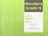 McGraw Hill Wonders Grade 6 Unit 1 Week 2 PowerPoint presentation Bundle