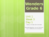 McGraw Hill Wonders Grade 6 Unit 1 Week 3 PowerPoint prese