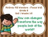 McGraw Hill Wonders Grade 6 Unit 1 Weeks 1-5 focus wall fo