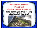 McGraw Hill Wonders Grade 6 Unit 2 Weeks 1-5 focus wall fo