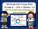 McGraw Hill Wonders Grade 6 Unit 4 Weeks 1-5 focus wall for display
