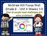 McGraw Hill Wonders Grade 6 Unit 4 Weeks 1-5 focus wall fo