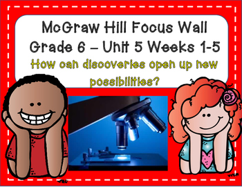 McGraw Hill Wonders Grade 6 Unit 5 Weeks 1-5 focus wall fo