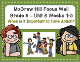 McGraw Hill Wonders Grade 6 Unit 6 Weeks 1-5 focus wall for display