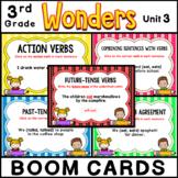 3rd Grade Wonders 2020 | Grammar Practice BOOM CARDS| Unit 3 Bundle