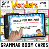 3rd Grade Wonders 2020 |Grammar Practice BOOM CARDS | Units 1 - 6 Bundle