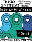 McGraw Hill Wonders High Frequency Words Fidget Spinner Fluency