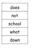 McGraw Hill Wonders High Frequency Words Unit 1 1st Grade