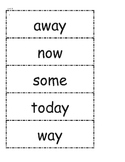 McGraw Hill Wonders High Frequency Words Unit 3 1st Grade