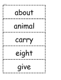 McGraw Hill Wonders High Frequency Words Unit 4 1st Grade
