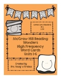 McGraw-Hill Wonders High Frequency Words Units 1-6~Halloween
