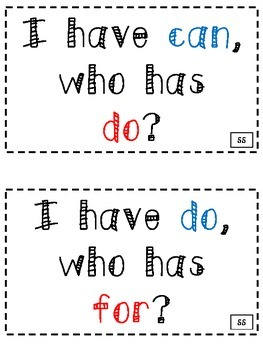 "McGraw-Hill Wonders ""I Have, Who Has"" HF word game"