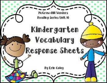 Wonders Kinder Vocabulary Response Unit 10: Thinking Outside the Box