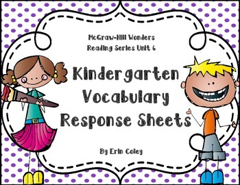 Wonders Kinder Vocabulary Response Unit 6: Weather For All