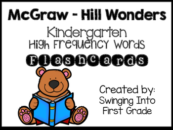 McGraw-Hill Wonders Kindergarten High Frequency Flashcards