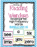 WONDERS Kindergarten High Frequency (sight words) ALL YEAR