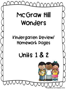 McGraw Hill Wonders Kindergarten Weekly Review