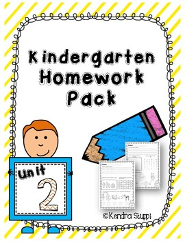 Kindergarten Homework Unit 2