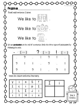 McGraw Hill Wonders Kindergarten Homework Unit 3