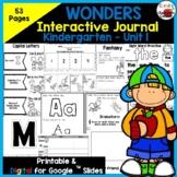 Wonders Kindergarten Interactive Journal Unit 1