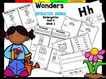 Wonders Kindergarten Interactive Journal Unit 5- Week 1