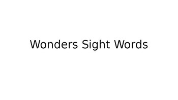 McGraw Hill Wonders Kindergarten Sight Word Assessment Form and Powerpoint
