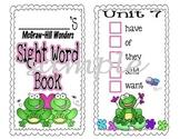 McGraw-Hill Wonders, Kindergarten Sight Word Book - FROG Theme