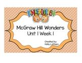 McGraw Hill Wonders Kindergarten Unit 1 Week 1