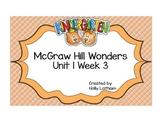 McGraw Hill Wonders Kindergarten Unit 1 Week 3