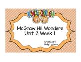 McGraw Hill Wonders Kindergarten Unit 2 Week 1