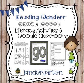 McGraw-Hill Wonders Kindergarten Unit 3 Week 3 Activities
