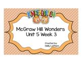 McGraw Hill Wonders Kindergarten Unit 5 Week 3
