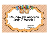 McGraw Hill Wonders Kindergarten Unit 7 Week 1