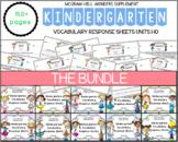 Wonders Kindergarten Vocabulary Response BUNDLE: Units 1-10