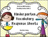 Wonders Kindergarten Vocabulary Response Unit 2: Let's Explore