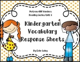 Wonders Kindergarten Vocabulary Response Unit 5: Wonders of Nature