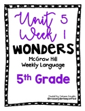 McGraw Hill Wonders Language Practice- U5W1