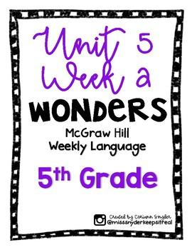 McGraw Hill Wonders Language Practice- U5W2
