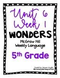 McGraw Hill Wonders Language Practice- U6W1