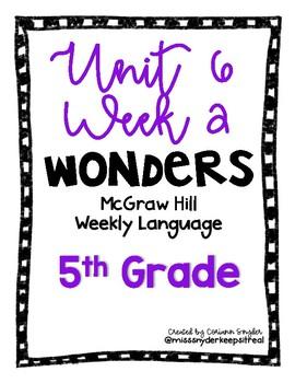 McGraw Hill Wonders Language Practice- U6W2