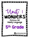 McGraw Hill Wonders Language Practice- Unit 1