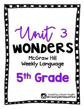 McGraw Hill Wonders Language Practice- Unit 3