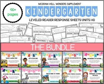 Kindergarten Leveled Reader Response Bundle: Wonders Units