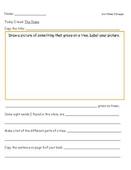 McGraw Hill Wonders Leveled Reader Response Sheet Unit 5 Week 2