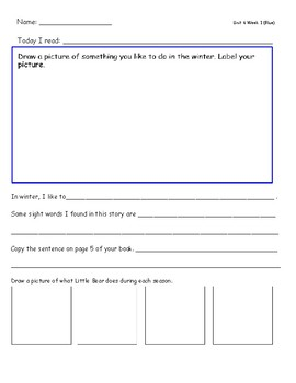 McGraw Hill Wonders Leveled Reader Response Sheet Unit 6 Bundle