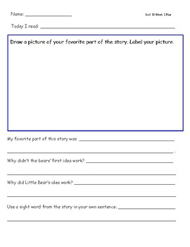 McGraw Hill Wonders Leveled Reader Response Sheets Unit 10 Week 1