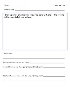 McGraw Hill Wonders Leveled Reader Response Sheets Unit 10 Week 2