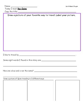 McGraw Hill Wonders Leveled Reader Response Sheets Unit 8 Week 1