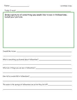 McGraw Hill Wonders Leveled Reader Response Sheets Unit 8 Week 2