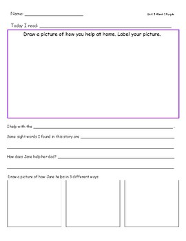 McGraw Hill Wonders Leveled Reader Response Sheets Unit 9 Week 1